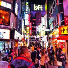 #japanese #people #downtown #shibuya #tokyo #night #cityscene #street #art_of_a_moment #squareimage #signboard   Flickr - Photo Sharing!