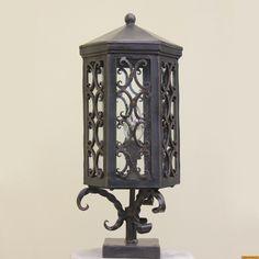 Lights Of Tuscany 7258 1 Spanish Style Post Light Lantern Outdoor Exterior