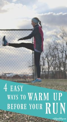 We all know it's important to warm up before a run, but this is something that is often skipped. Here are 4 easy ways to warm up before a run. Running Injuries, Running Workouts, Running Tips, Easy Workouts, Running Blogs, Road Running, Race Training, Training Plan, Running Training