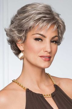 Resolve by Eva Gabor Wigs - Hair Design Cool Short Hairstyles, Short Pixie Haircuts, Undercut Hairstyles, Pixie Hairstyles, Short Hair With Layers, Short Hair Cuts For Women, Soft Layers, Short Curly Hair, Curly Hair Styles