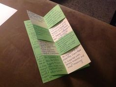 """Learn how to make this awesome foldable with a """"magic"""" center with your students! It's a perfect way to liven up boring notes that you want students to keep. Teacher Page, Teacher Tools, Teacher Resources, Teacher Hacks, Teacher Stuff, Teaching Writing, Teaching Strategies, Teaching Tips, Instructional Strategies"""