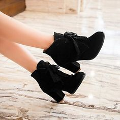You gotta love ankle boots for wearing with short skirts! Like or not? Click for more details!