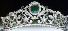 http://rubies.work/0140-ruby-rings/ The emerald and diamond tiara of Marie-Thérèse-Charlotte, the Duchess of Angoulême. It can be found today in the Louvre. Marie-Thérèse was was the only child of Louis XVI and Marie Antoinette to survive the French Revolution.
