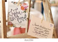 Floral Collage Peach Wedding Invitation Suite -The NotWedding 2012 Atlanta-Ruffled Blog. $700.00, via Etsy.