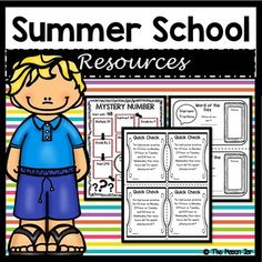 If you are teaching Summer School this is a must have for your 5th Grade Math Students. These activities will help them understand concepts they might have not fully understood during the school year. You will love these print and go activities (answer key included).