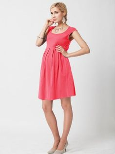 """Angel Maternity """"Top Seller"""" Cotton Cap Sleeve Maternity Dress in Deep Pink - ShopStyle Plus Size Maternity Dresses, Maternity Fashion Dresses, Maternity Tops, Maternity Wear, Maternity Style, Unique Dresses, Short Dresses, Dresses For Work, Summer Dresses"""