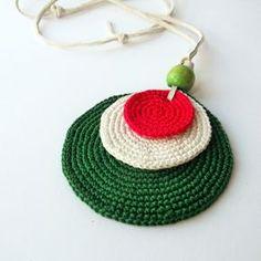 Jewellery For Lady - Crochet Earrings Pattern, Crochet Jewelry Patterns, Crochet Accessories, Crochet Necklace, Diy Schmuck, Fabric Jewelry, Diy Necklace, Crochet Stitches, Crochet Projects