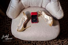 shoes and ring from a wedding at the george peabody library in baltimore maryland. Judah Avenue is a wedding photographer in  maryland and a wedding photographer in washington dc, we also specialize in wedding photography in virginia, Find a wedding photographer in our staff, we are one of the best wedding photographers in maryland, washington dc and virginia