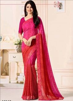 Red Color Georgette Designer Saree 428