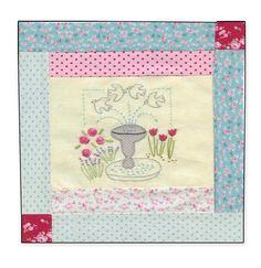 8.Girls Own Stitching Club- Birdbath Block.