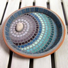 Rose Garden  Ripples Mosaic Bird Bath Yard Decoration by JoSaraUK, £36.00