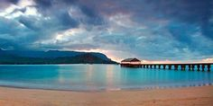 kauai Hanalei Bay Pier, my favorite beach in Kauai. I miss it soooo bad. Some day I will go back