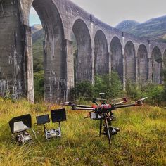 On station waiting for the steam train to pass over! #dji #drone #s900 #panasonic #gh4 #4k #aerialphotography #aerialfilming #scotland #viaduct #trains #steamtrain by fleye_aerial