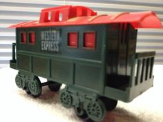 VTG Western Express Christmas Caboose 1970s All Plastic