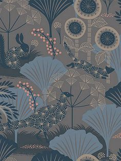Buy Blue 1470 Boråstapeter Mardgomma Wallpaper from our Wallpaper range at John Lewis & Partners. Free Delivery on orders over Vintage Flowers Wallpaper, Floral Pattern Wallpaper, Flower Wallpaper, Home Wallpaper, Fabric Wallpaper, Wallpaper Backgrounds, Scandinavian Wallpaper, Feature Wallpaper, Aesthetic Drawing
