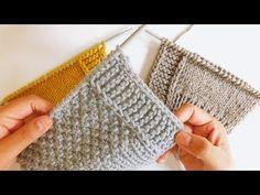Como tejer bordes perfectos en dos agujas, palitos, tricot. Curso Principiantes - YouTube