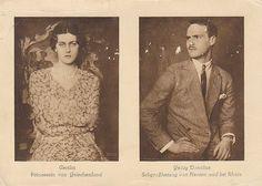 Georg Donatus of Hesse-Darmstadt and Princess Cecilie of Greece & Denmark (Sister of Prince Philip, Duke of Edinburgh) - 1931