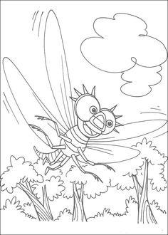 Miss Spider Fargelegging for barn. Tegninger for utskrift og fargelegging nº 11