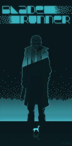 Blade Runner: Haz un resumen [crítico] del argumento de la película. [Póster minimalista de cine para la clase de ELE.]