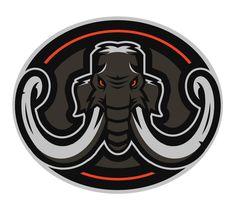 Mammoth Fs Logo, Team Logo, Sports Decals, Pub Decor, Esports Logo, Elephant Logo, School Logo, Cultura Pop, Logo Design