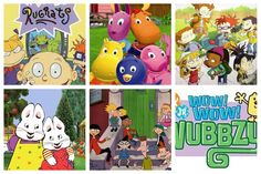 #todayskidswillneverknow Rugrats, the backyardagans, all grown up, max&ruby, hey arnold and wow wow wubbzy
