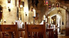 "Restaurant ""Castillo"" Burghotel ""Castillo Alcazar"" Das Hotel, Restaurant, Places Ive Been, Candles, Environment, Castles, Europe, Spanish Style, Twist Restaurant"