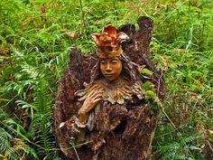 Bruno Torfs wooden sculpture
