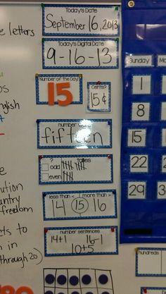 Math classroom Woman Polo Shirts woman polo shirt short sleeve with poket Kindergarten Calendar, Classroom Calendar, School Calendar, Kindergarten Math Wall, 1st Grade Calendar, First Grade Classroom, Math Classroom, Classroom Playlist, Classroom Ideas