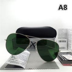 84bf7a99c8f07 Top quality Glass lens Men Women Polit Fashion Sunglasses UV400 Brand  Designer Vintage Sport Sun glasses With case and box