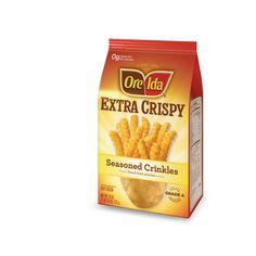 Extra Crispy Seasoned Crinkles #OreIda #potatoes #GlutenFree #fries