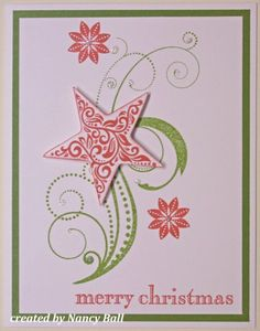 This card was totally lifted from another CTMH Consultant.....at the moment I can not recall who..so sorry.  The flourish image and flowers ...
