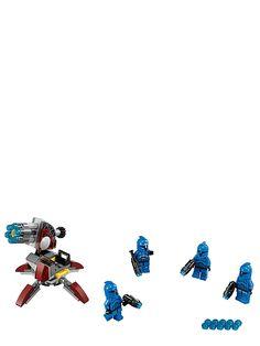 Lego Star Wars, Senate Commando Troopers. Suojele senaattia kommandosotilaiden taistelujoukolla! Clone Wars -animaatiosarjasta tuttu iskujoukko on aseistettu hampaisiin asti. Pakkauksessa on 4 pienoishahmoa ja aseita. 6–12-vuotiaille. Tuotenro 75088.