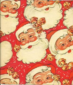 Vintage Santa wrapping paper--from Scraptherapy on Face Book