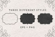 FRAMES. Hand drawn vector. by kite-kit on @creativemarket