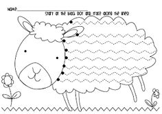 Frog Spot: Spring Lamb Handwriting Freebie