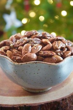 Spicy Maple Rosemary Mixed Nuts