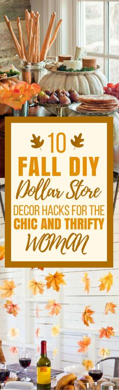 These 10 Dollar Store Fall Decor Ideas are THE BEST! I'm so happy I found these GREAT dollar store decor ideas! Now I have some great ways to decorate my home on a budget! Definitely pinning!