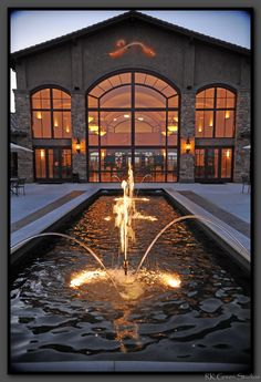 Monte De Oro Winery Fountain - Creating an atmosphere that is sophisticated, yet at the same time, inviting, warm, and unintimidating