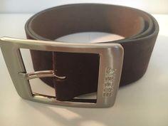 "New Esprit Cow Split Leather Brown Belt Germany Size 32"" / 80 cm Nubuck Suede #Esprit"