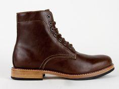 Holden Doughboy Boots in Dark Brown