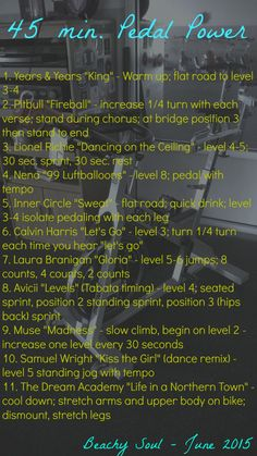 spin classYou can find Spin bike workouts and more on our min. Spin Playlist, Playlist Ideas, Spin Class Routine, Cycling Workout, Cycling Tips, Road Cycling, Spin Bike Workouts, Chest Workouts, Spin Instructor