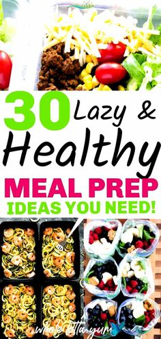 30 easy meal prep recipes that are healthy and make weight loss easier. Healthy meal prep for the week for beginners for breakfast, lunch and dinner. #easy healthy dinner recipes<br> Healthy Dinner Recipes For Weight Loss, Easy Healthy Meal Prep, Weight Loss Meals, Dinner Recipes Easy Quick, Healthy Eating For Kids, Healthy Chicken Recipes, Easy Healthy Recipes, Quick Easy Meals, Baby Food Recipes