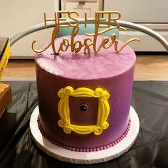 friends tv themed party cake - bachelorette bridal shower birthday