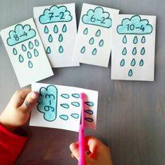 Kids Math Worksheets, Phonics Activities, Classroom Activities, Preschool Activities, Montessori Kindergarten, Preschool Math, Teaching Kids, Kids Learning, Math Classroom Decorations