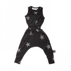 Nununu Romper Stars Black // PoppysCloset.com