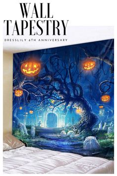 - Fill your wall with Hallowmas vitality using this tapestry - You can even put it on your furniture for a creative look - Easy to clean, allows for machine wash and dry maintenance#home