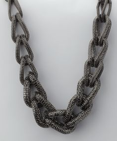 Take a look at this Hematite Chunky Link Necklace by Top It Off on #zulily today!