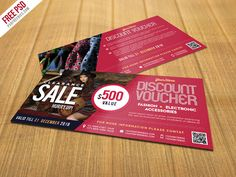 Nice Sale Discount Voucher PSD Template Freebie. Download Sale Discount Voucher PSD Template Freebie. This Discount Voucher Template PSD is best suitable for promoting your business, product or services like fashion, shopping mall, beauty salon, spa center, cosmetics, boutique, and so on. These Sale Discount Voucher template will help you to promote your brand, store, eCommerce website or...