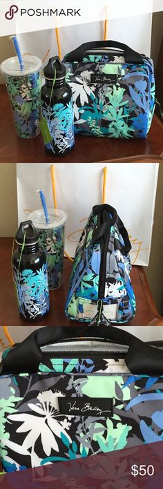 Vera Bradley Camofloral Lunch Set 25oz Water Cooler/Tumbler/Lunch Box. Brand new never used. Still in plastic. Comes with Vera Bradley Shopping Bag. Comes with everything seen in the picture! Priced to sell! Vera Bradley Other