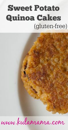 sweet potato quinoa cakes (gluten free) by www.kulamama.com #healthyrecipes #glutenfree